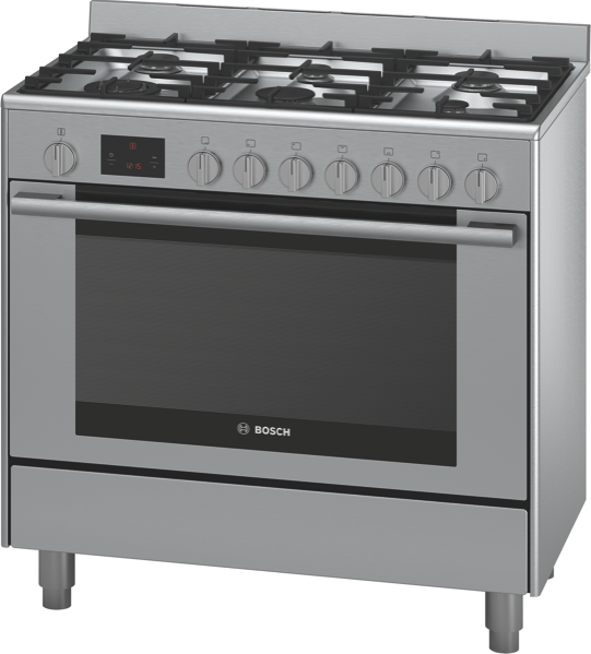 90CM FREESTANDING DUAL FUEL COOKER - STAINLESS STEEL