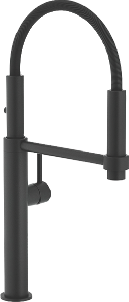 PESCARA SINGLE LEVER PULL OUT MIXER TAP - MATTE BLACK