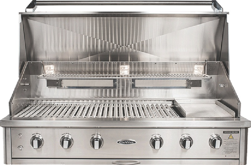 Capital 133cm 3-Burner Built-In BBQ - Stainless Steel ACG52RBI1L