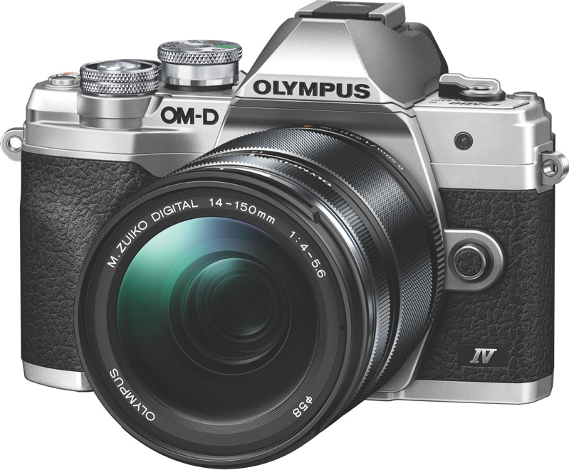 Olympus OM-D E-M10 Mark IV Mirrorless Camera + 14-150mm Lens Kit - Silver V207133SA000