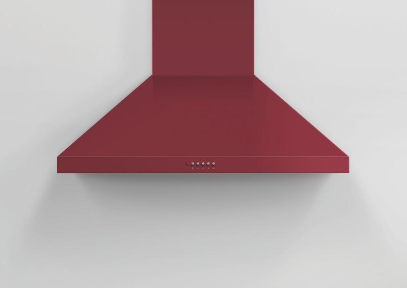 Fisher & Paykel 90cm Canopy Rangehood - Red HC90PCR1