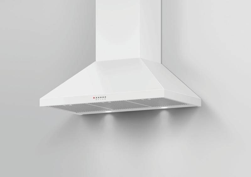 Fisher & Paykel 90cm Canopy Rangehood - White HC90PCW1