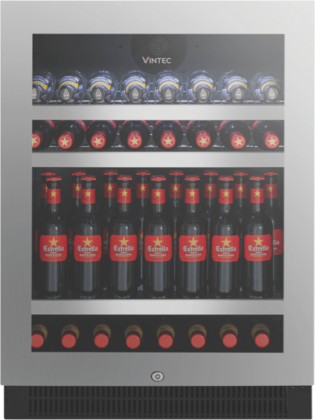 Vintec 100 Beer Bottle Beverage Centre - Stainless Steel VBS050SSBX