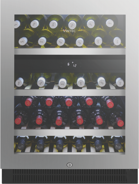 Vintec 50 Bottle Dual Zone Wine Cellar - Stainless Steel VWD050SSBX