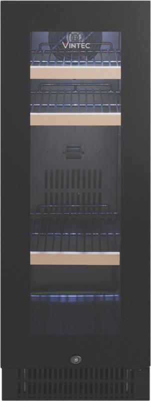 Vintec 48 Beer Bottle Beverage Centre - Black Glass VBS020SBBX