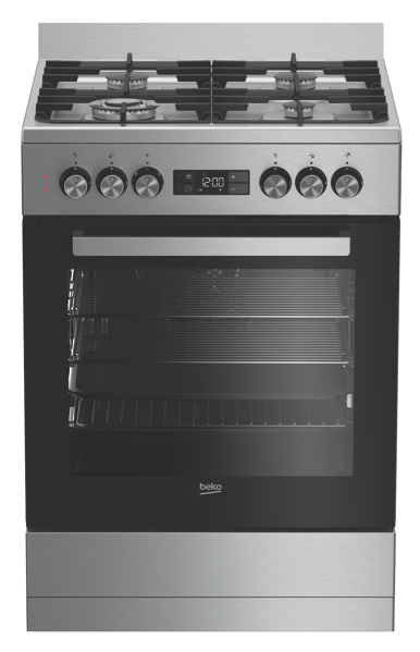 60CM FREESTANDING DUAL FUEL COOKER - STAINLESS STEEL