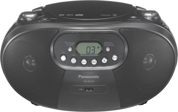 Panasonic Portable CD Radio - Black RXDU10GNK