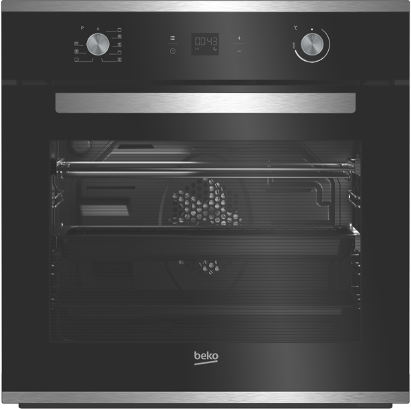 60CM BUILT-IN PYROLYTIC OVEN – BLACK