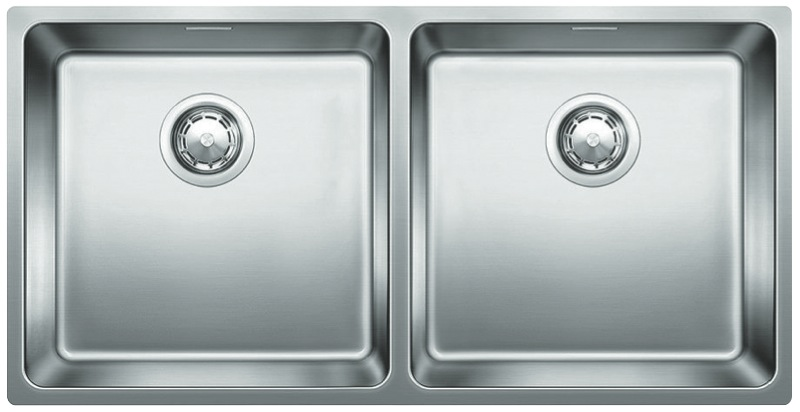 Blanco Double Bowl Undermount Sink with Overflow ANDANO400400UK5