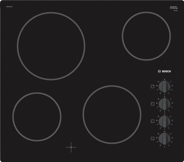 90CM CERAMIC COOKTOP - BLACK