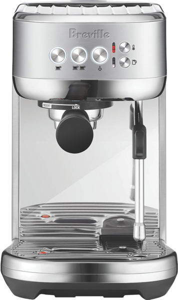 BAMBINO PLUS PUMP ESPRESSO COFFEE MACHINE - BRUSHED STAINLESS STEEL