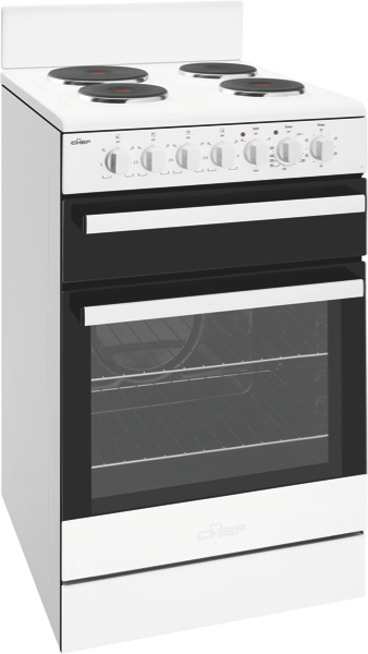 Chef 54cm Freestanding Electric Cooker - White CFE535WB
