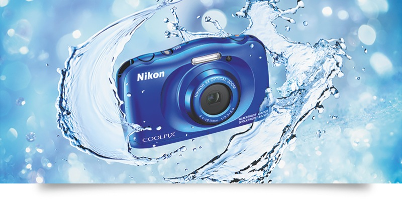 Nikon W150 Blue Coolpix Camera VQA111AA