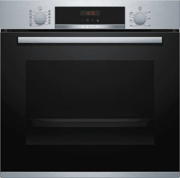 60CM BUILT-IN PYROLYTIC OVEN - BLACK