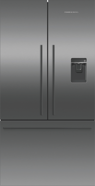 614L FRENCH DOOR FRIDGE WITH ICE & WATER - BLACK